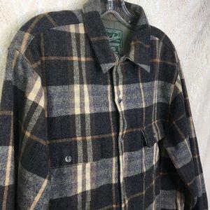 Woolrich Mens Long Sleeve Plaid Wool Shirt